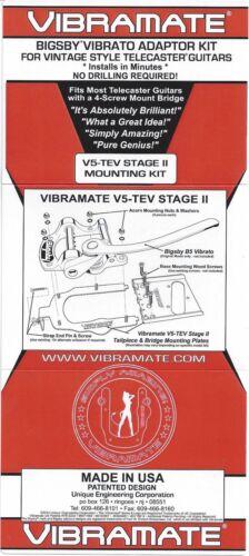 Vibramate V5-TEV-2-S Telecaster mounting kit for Bigsby B5 tremolo