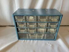 Vintage Metal Storage Drawers Small Parts Organizer Cabinet Raaco Corp 1286