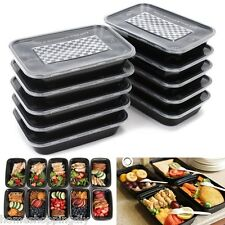 500ML Black Cute Crisper Lunch Box Plastic Food Container Disposable SP