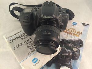 minolta maxxum 500si 35 70mm 1 3 5 4 5 slr camera with manuals ebay rh ebay com minolta maxxum 300si manual minolta dynax 500si instruction manual