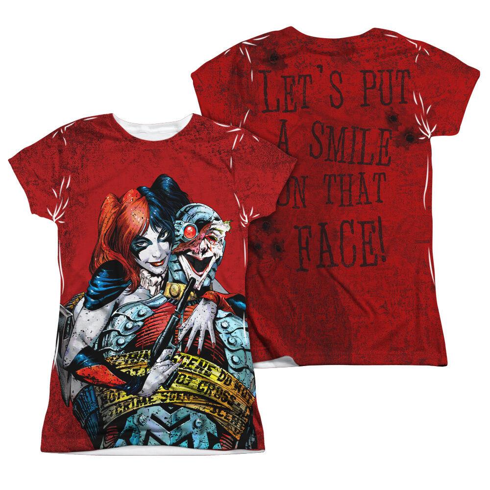 BATMAN CRIME SCENE HARLEY QUINN Licensed Women's Junior Tee Shirt SM-2XL