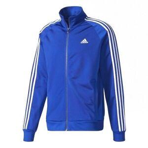 Adidas-Men-039-s-Essentials-3-Stripe-Tricot-Track-Athletic-Active-Jacket-CD8760