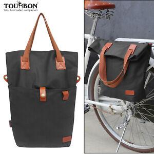 Tourbon Bike Pannier Tote Bag Travel Saddle Case Shoulder Pack Classical Cycling