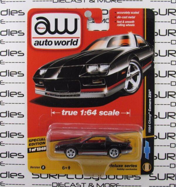 Auto World 1:64 2017 Deluxe Series Hobby Exclusive Black 1984 CHEVY CAMARO Z28 B
