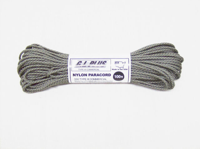 PARACORD Desert Camo Camouflage 7 Strand 550LB Type III 100ft USA made