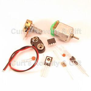 DIY BREADBOARD DC SPEED CONTROL W/MOTOR ELECTRONIC PROJECT KIT - BONUS