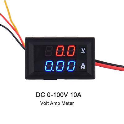 Brand New LED Red Blue Dual Display Digital Current Voltage Meter DC4-30V