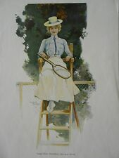 Ewald THIEL Preisrichterin beim Lawn TENNIS Schiedsrichter Tennisschläger 1895
