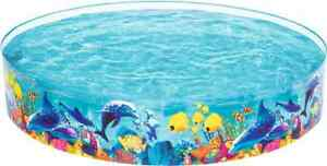 Large 2 4m ocean sealife pop up paddling pool kids garden for Pop up garten pool