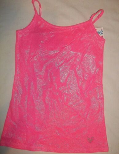 NEW JUSTICE GIRLS SIZE 8 10 12 14 16 18 FOIL FINISH CAMISOLE//TANK 6 COLORS PIC 1