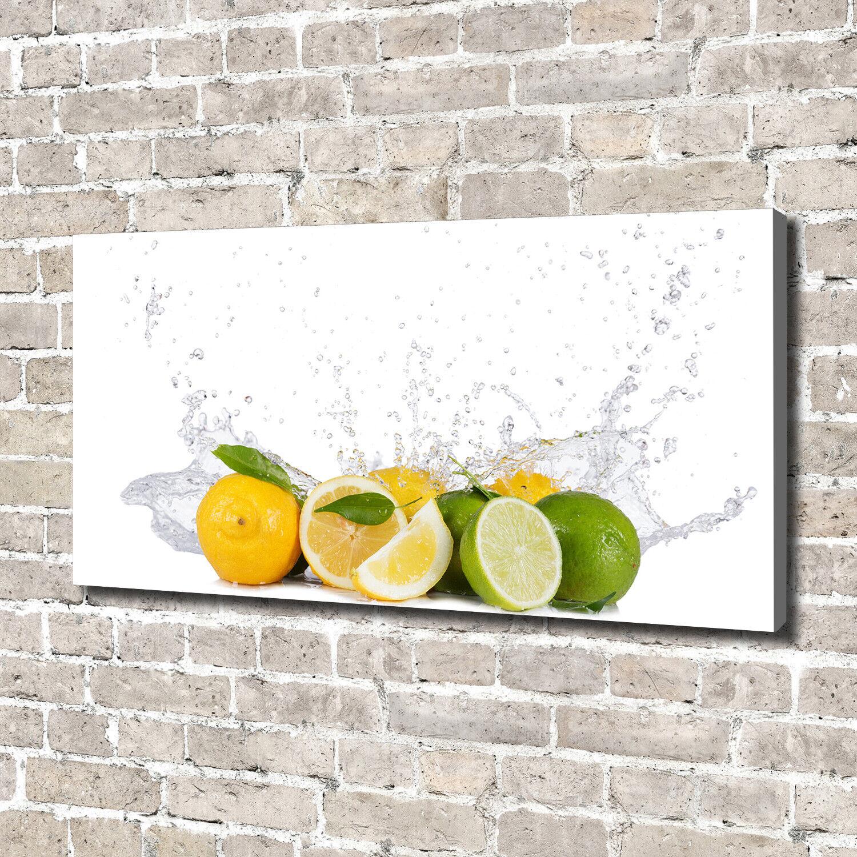Leinwandbild Kunst-Druck 140x70 Bilder Essen & Getränke Zitrus Wasser