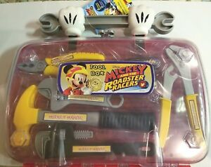 Disney-Mickey-and-the-Roadster-Racers-Tool-Box-Play-Set-New-with-Case