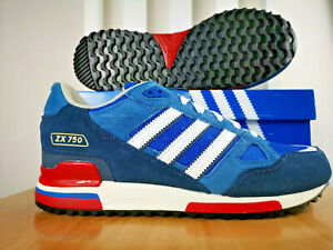 good looking outlet store meet Details zu adidas Originals Mens ZX 750 Trainers  Bluebird/Blue/Navy/Red/White/ All Sizes