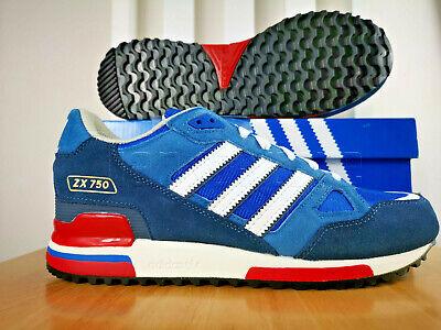 Conmemorativo collar Ir al circuito  adidas Originals Mens ZX 750 Trainers Bluebird/Blue/Navy/Red/White/ All  Sizes | eBay