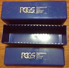 2 Original Blue PCGS Graded Coin Slab Boxes