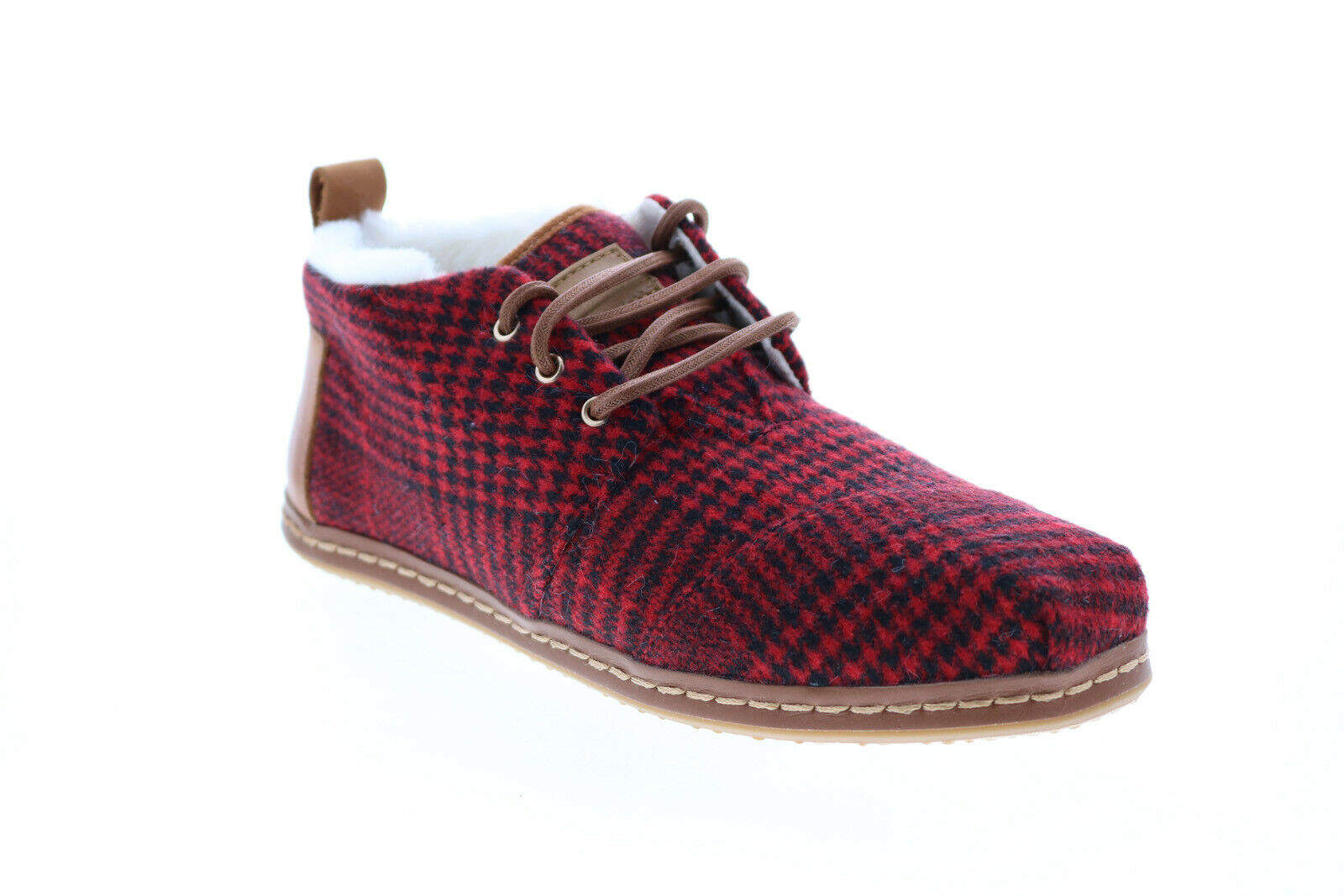 Toms Bota 10014915 Womens Red Mesh Lace Up Lifestyle Sneakers Shoes 7.5