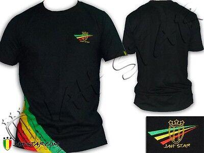 T Shirt Rastafari jah Live Rasta Jah Star Wear Logo Brodé 3 bandes | eBay