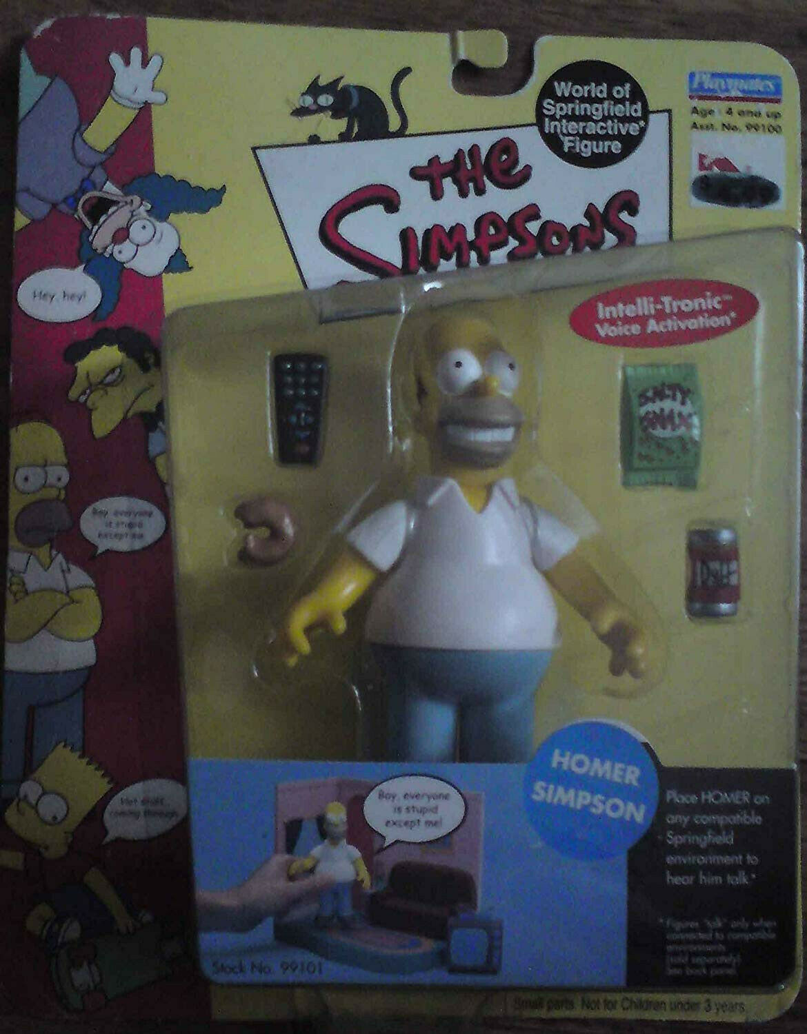 Vintage playmates 1st edition homer simpsons with voice activation extreme rare