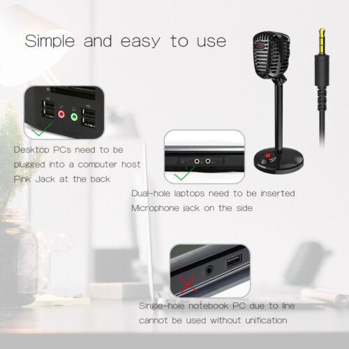 JIES Retro Kondensatormikrofon 3.5mm Port Konferenzmikrofon Studiomikrofon N7V1