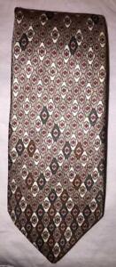 Christian-Dior-Monsieur-Paris-Brown-Geometric-Print-Men-039-s-Vintage-Neck-Tie