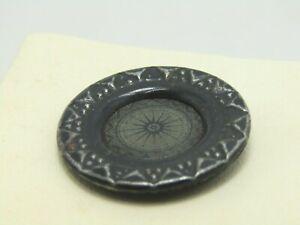 Vintage-Black-Metal-Starburst-Button-Nautical-Celestial-1-1-8-034-Early-1900-039-s