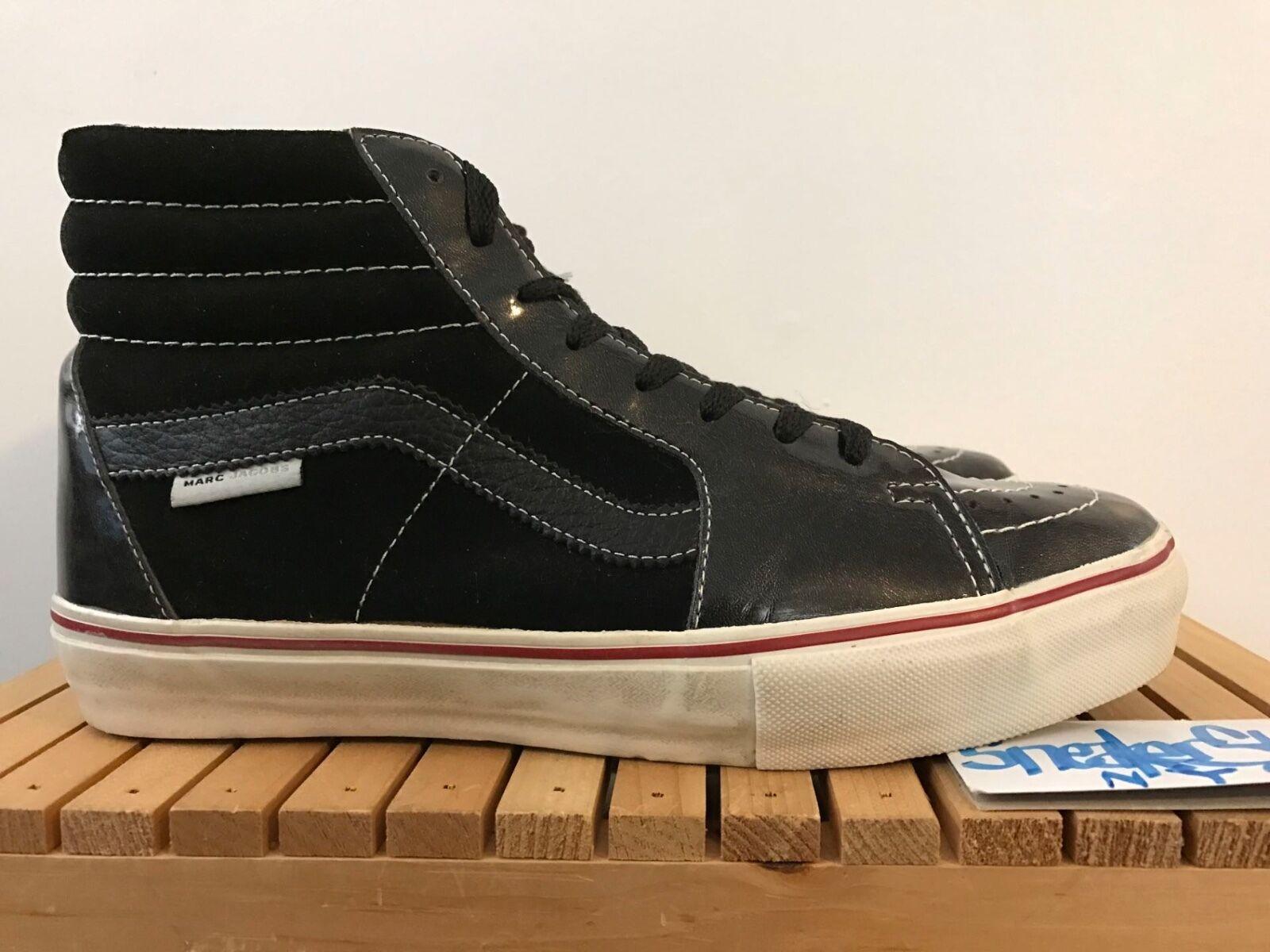 2018 Vintage Vans Vault Marc Jacobs Sk8-HI Negro LX X Charol Negro Sk8-HI Tamaño 9 e08fa6
