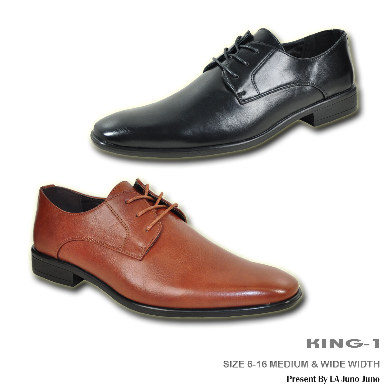 BRAVO Men Dress shoes KING-1 Classic Oxford with Leather Lining