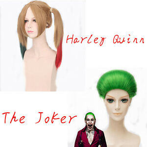 Halloween-Suicide-Squad-Harley-Quinn-Wig-Joker-Daddy-039-s-Jacket-Shirt-Tattoos-Lot