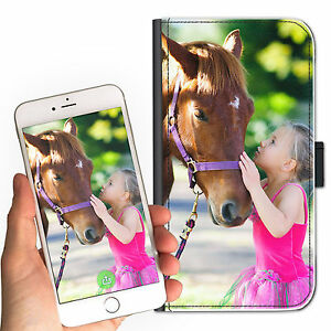 Poney-Cheval-Animal-Personnalise-Deluxe-Simili-Cuir-Etui-pour-Telephone-Portable