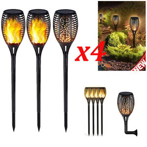 96-LED-4-Pack-Solar-Torch-Lights-Flickering-Lighting-Dancing-Flame-Garden-Lamp