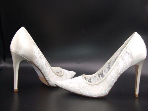 DUNE Breena Lace Pointed Wedding Court Shoes White Ivory UK Size 7-8 NEW
