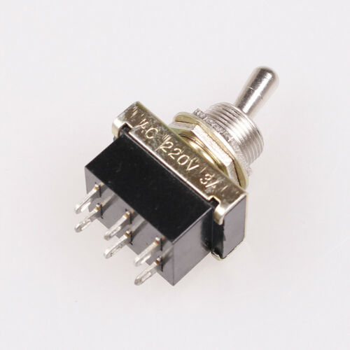 2-Position 6 Terminals DPDT Black Toggle Switch AC 220V//3A 110V//6A