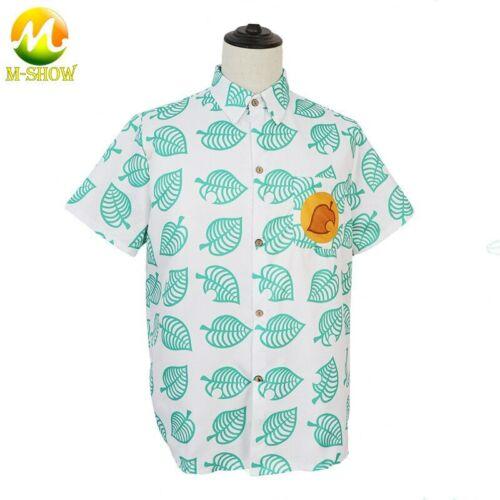 Animal Crossing Cosplay Costume Tom Nook Shirt Short Sleeve Shirt Tees Top Men