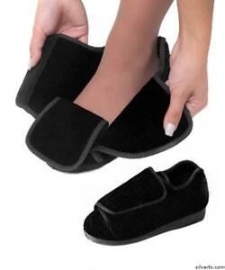a43dfac680bc Extra Extra Wide Swollen Feet Deep Diabetic   Edema Slippers EZ ...