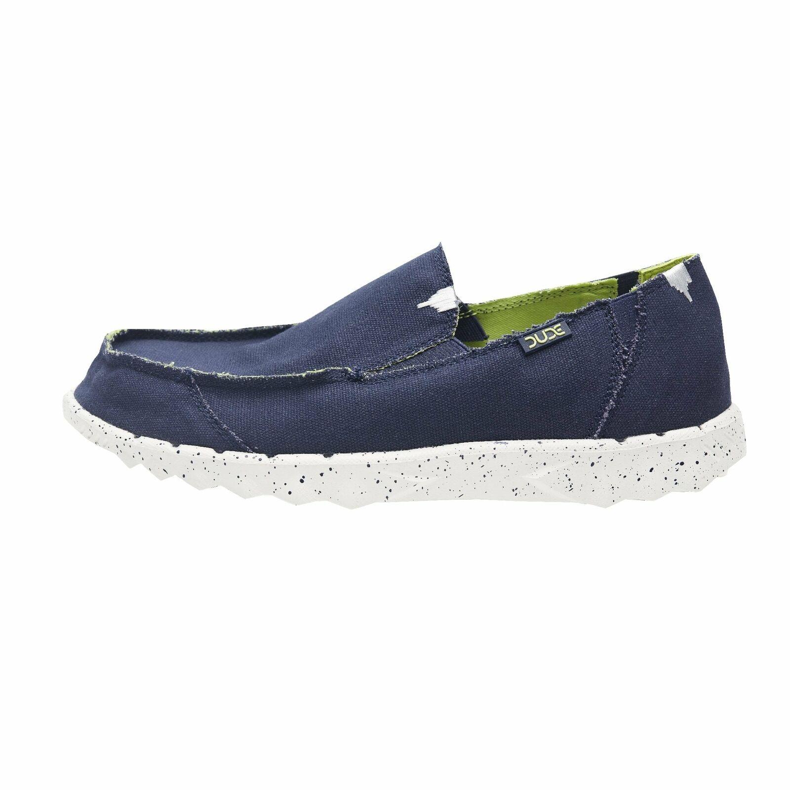 Hey Dude Zapatos para hombre pedos Funk Azul Marino Lona Slip On Mula Cal