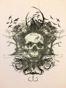 Image Is Loading Del Sol Myrtle Beach Skull White T Shirt