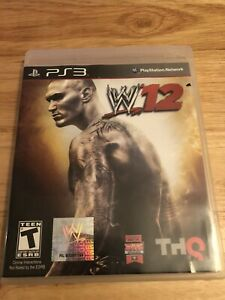 WWE-039-12-Sony-PlayStation-3-W12-PS3-NO-MANUAL