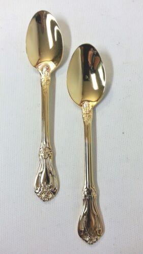Stanley Robert Rogers Gold Valentine Electroplate Teaspoons Flatware 2