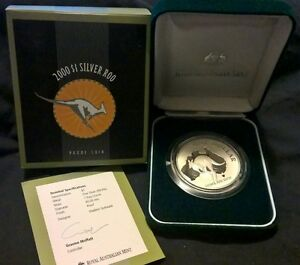 2000-ONE-DOLLAR-KANGAROO-SILVER-PROOF-COIN-ONE-OZ-PURE-SILVER