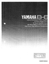 Yamaha B-6 Amplifier Owners Manual