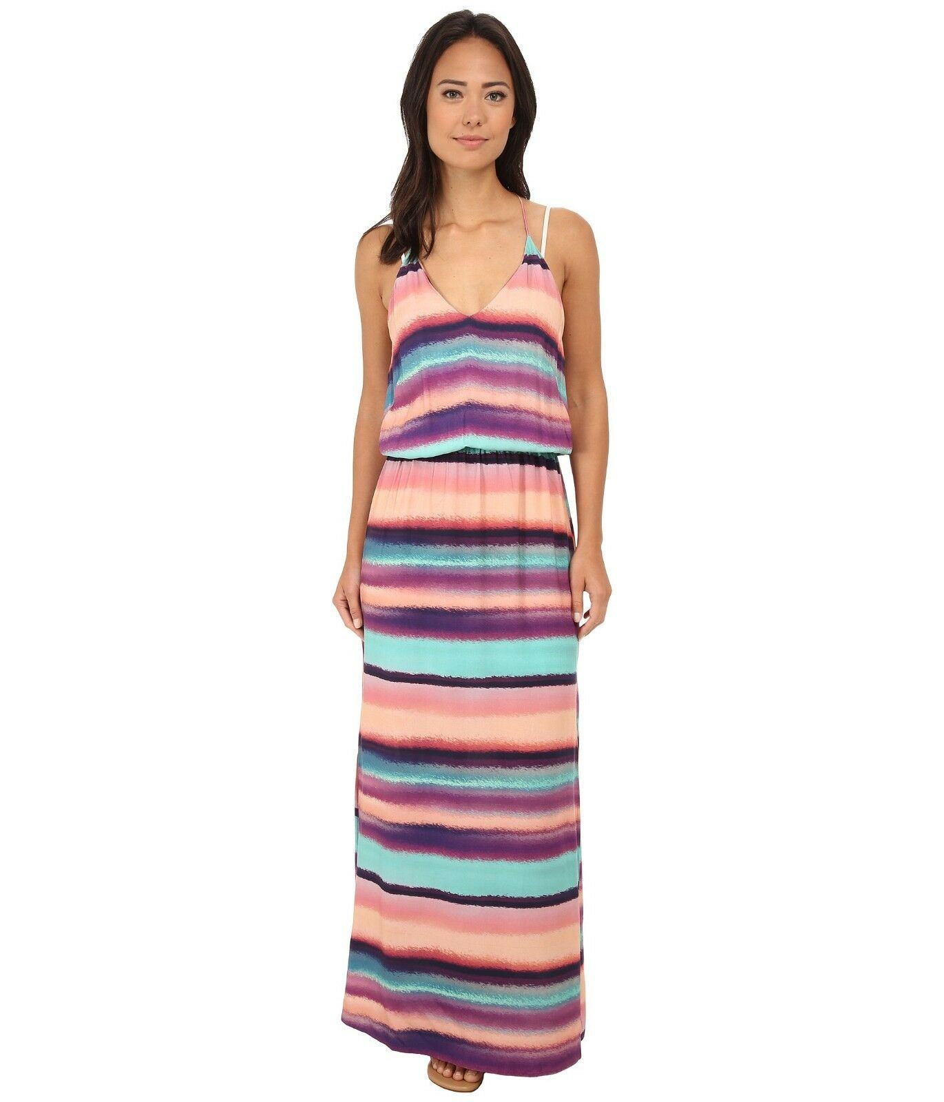 195 NEW - VIX Paula Hermanny Women's 'TAYSA' Reef MAXI DRESS - M