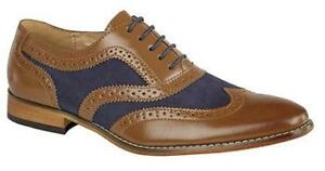Goor-Tan-Navy-Two-Tone-Laced-Brogue