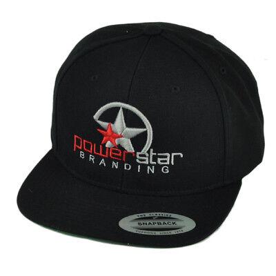 Fanartikel Powerstar Branding Logo Pbs Flache Bill Snapback Mütze Kappe Black Gray Kopfband üBerlegene Leistung Weitere Ballsportarten