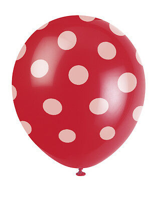 "6 x 12"" Polka Dots Helium or Air Quality Latex Party Balloons Decorations"