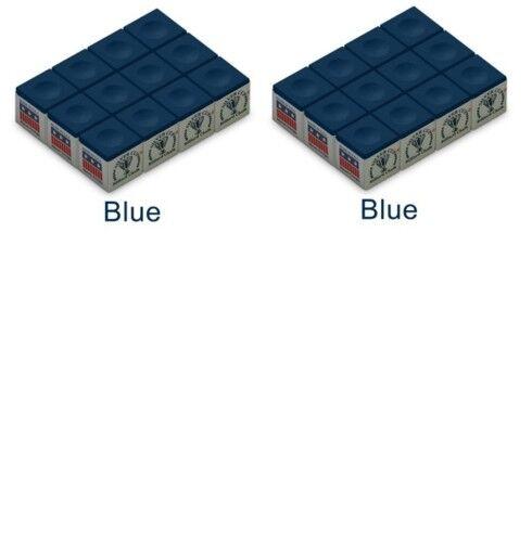2 doz.//24pcs BLUE SILVER CUP BILLIARD  POOL CUE CHALK