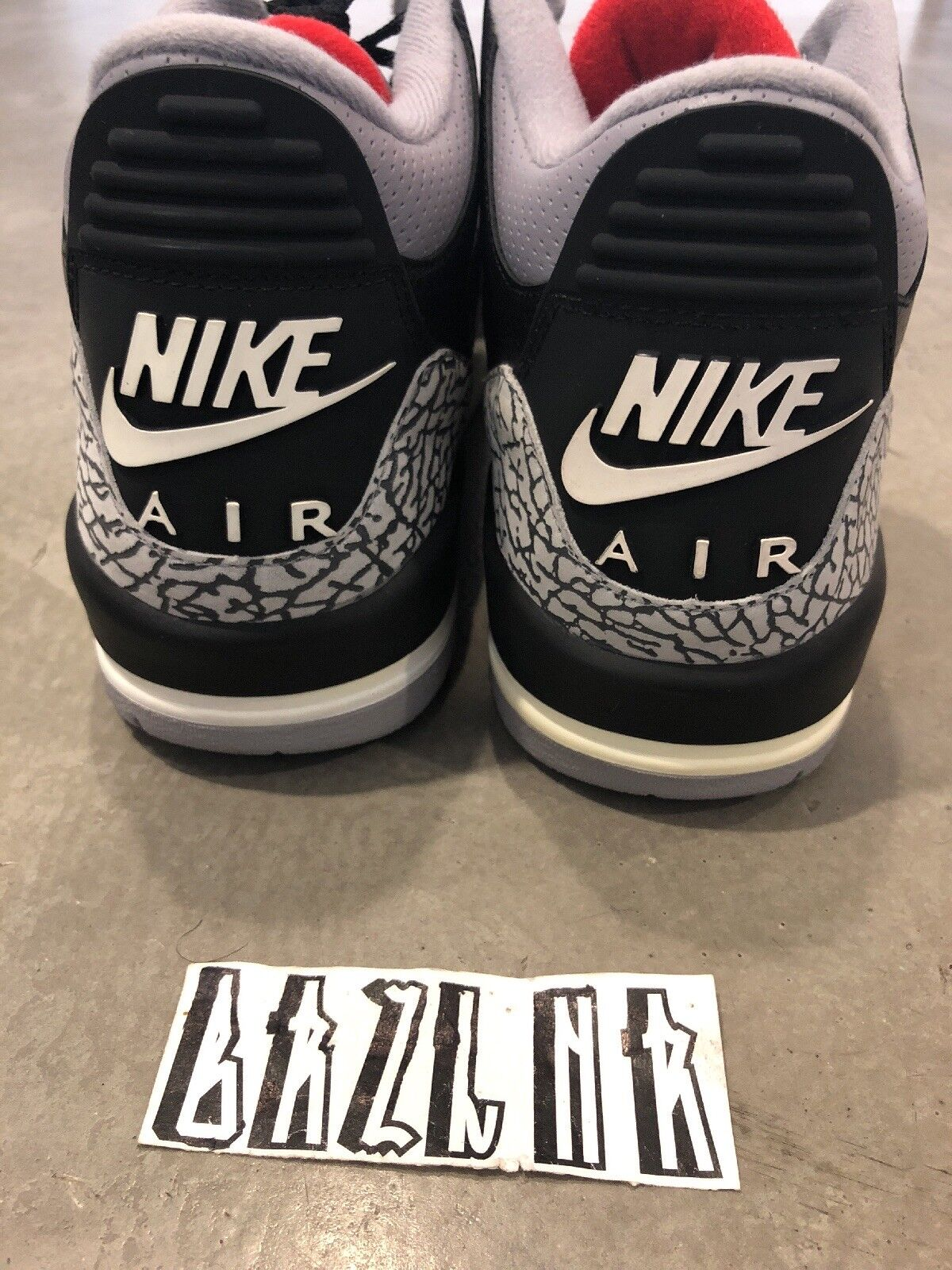 2018 Nike Air Jordan 3 Retro Black/Cement Grey Comfortable Wild casual shoes