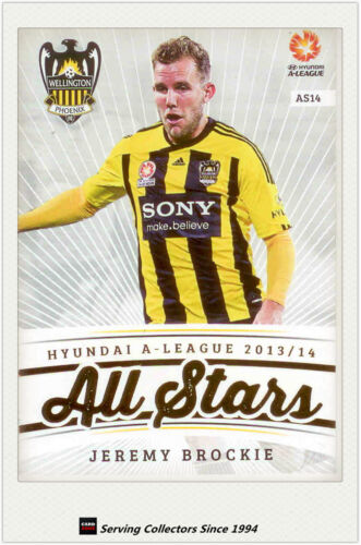 201314 A League Trading Cards All Stars AS14 Jeremy Brockie Wellington