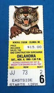 1985 OKLAHOMA SOONERS VS MISSOURI COLLEGE FOOTBALL TICKET ...