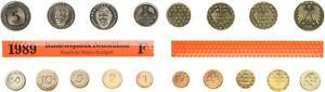 BRD Kurssatz 1Pf. bis 5 DM 1989 f Einzelplatte Stempelglanz 57707