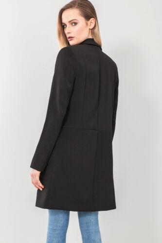 Femme Bustier Fermeture Éclair Veste Blazer en Noir Tailles 8 To 20